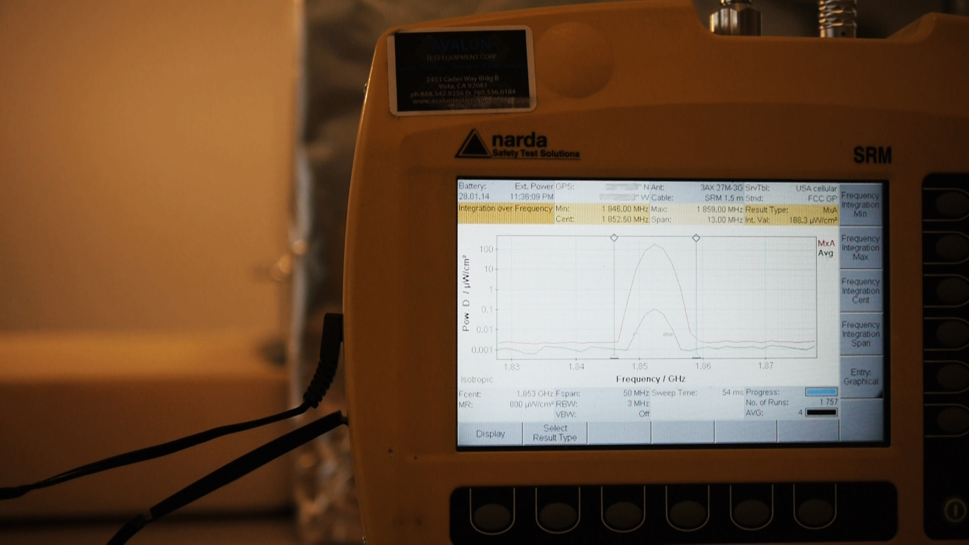 eFLEKTOR test, demonstrating reduced power incident to meter